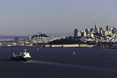 Cargo Ship in the San Francisco Bay Stock Photos
