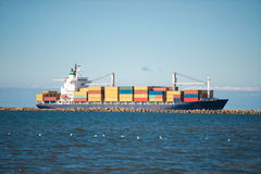 Cargo ship at sea Royalty Free Stock Photography