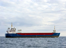 Cargo ship at sea Royalty Free Stock Photo