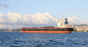 Cargo Ship in Sea Stock Photo