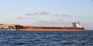 Cargo Ship in Sea Stock Photo