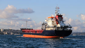 Cargo Ship in Sea Royalty Free Stock Photo