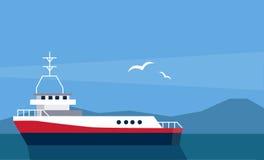Cargo Ship At The Sea Stock Photo