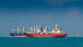 Cargo ship. At sea inthailand Stock Photos