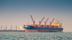 Cargo ship. At sea inthailand Stock Images