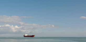 Cargo ship at sea Royalty Free Stock Images