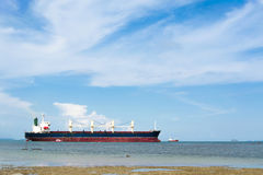 Cargo ship on the sea Royalty Free Stock Image