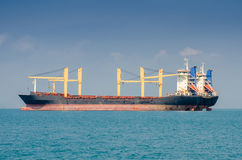 Cargo ship. At sea in Thailand Royalty Free Stock Image