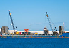 Cargo ship. Seaport of Monopoli. Apulia. Royalty Free Stock Images