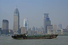 Cargo ship in Shanghai royalty free stock image