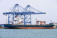 Cargo ship with shipping containers Royalty Free Stock Images