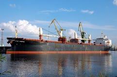 Cargo Ship Star Canopus. Cargo port in St.-Petersburg, Russia Stock Image