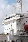 Cargo ship. Superstructure of oceangoing cargo ship Royalty Free Stock Photos