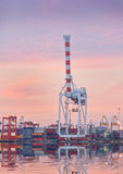 Cargo ship in Trade Port , Container loading Shipping by crane Stock Images