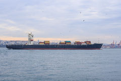 Cargo ship transportation Royalty Free Stock Images
