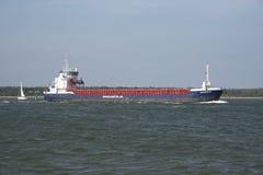 Cargo ship underway on Southampton UK Stock Photography