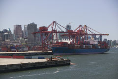 Cargo Ship In Vancouver Harbour British Columbia Stock Photography