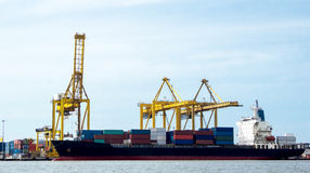 Cargo ship Royalty Free Stock Photos