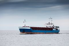 Cargo ship. sea freight transportation Royalty Free Stock Images