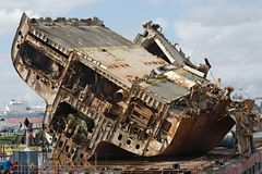 Cargo ship wreck Royalty Free Stock Images