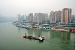 Cargo Ship on Yangtze River Stock Images