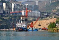 Cargo Ship on Yangtze River Stock Photo