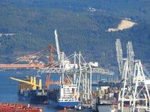 Cargo Ship at Ship-yards stock images