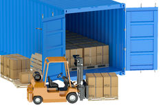Cargo shipping concept Stock Photography