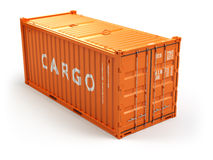 Cargo shipping container  on white. Delivery. Stock Photography