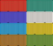 Cargo shipping containers for freight transport Royalty Free Stock Images
