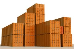 Cargo Shipping Containers Royalty Free Stock Photo