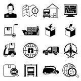 Cargo and shipping icons Stock Image