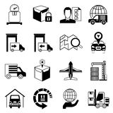 Cargo and shipping icons Royalty Free Stock Images
