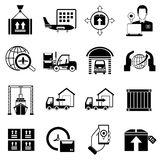 Cargo and shipping icons Stock Photo