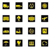 Cargo shipping icons set Stock Photography