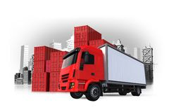 Cargo and Shipping Illustration Royalty Free Stock Photography