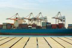 Cargo shipping industry of economy growing. Royalty Free Stock Image