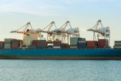 Cargo shipping industry of economy growing. Cargo shipping industry of economy growing, Daylight shot Royalty Free Stock Image