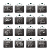 Cargo, shipping and logistic icons Royalty Free Stock Photo