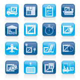 Cargo, shipping, Logistics and delivery icons Royalty Free Stock Photography