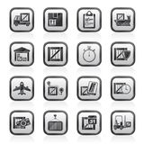 Cargo, shipping, Logistics and delivery icons Stock Photos