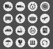 Cargo shipping symbols. Cargo shipping simply symbol for web icons and user interface Stock Image