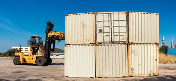 Cargo and shipping yard, Business Logistics, Handling and stora stock photography