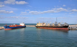 Cargo ships Royalty Free Stock Photos