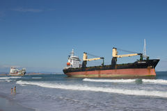 Cargo Ships Royalty Free Stock Photo