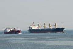 Cargo Ships Stock Photo