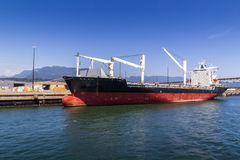 Cargo ships in cargo terminal Royalty Free Stock Images