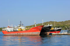 Cargo ships in Croatia Stock Images