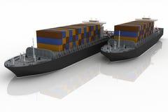 Cargo ships. Stock Image