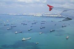 Cargo ships entering one Royalty Free Stock Photos